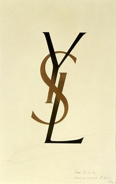 The original YSL logo by Adolphe Mouron Cassandre 1962