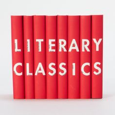 Literary Classics Set in House+Home HOME+DÉCOR Books Art+Decorating at Terrain