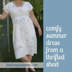 it's always autumn - itsalwaysautumn - sew: summer dress from a thrifted bedsheet