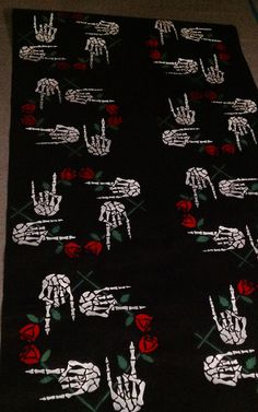 Gothic Valentines Wrapping Paper Heavy Metal Gift Wrap Guns