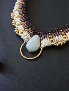 Lya / Collier macramé / collar Macrame micro macrame
