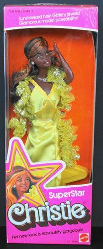 RARE 1976 Superstar Christie African American Barbie Fast SHIP   eBay