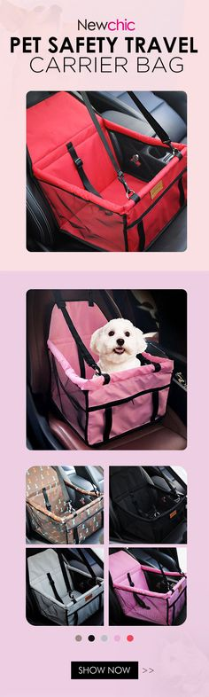 US$28.99-Portable Pet Car Seat Belt Booster Bag Dog Cat Safety Travel Carrier Bag Folding Safety#newchic#pet#bedding