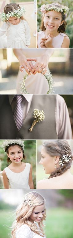 Rustic Wedding Ideas - Baby's breath wedding accessories