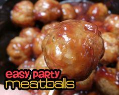Easy Crockpot Meatballs ~ So simple and absolutely delicious! #Crockpot #SlowCooker