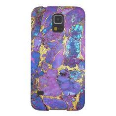 Purple Stone Phone Case Galaxy S5 Cover