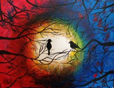 Love Birds - original by Cocktails 'n Canvas local artist Satin Bina. Rating - Easy.