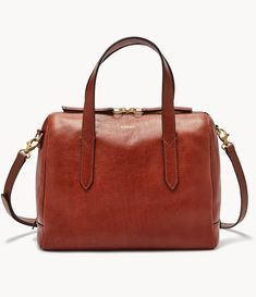 "Fossil Sydney Leather Satchel Shoulder Bag ""medium Brown"" for sale online Fossil Handbags, Fall Handbags, Satchel Handbags, Black Handbags, Purses And Handbags, Luxury Handbags, Messenger Bag Backpack, Backpack Travel Bag, Iphone 7 Plus"