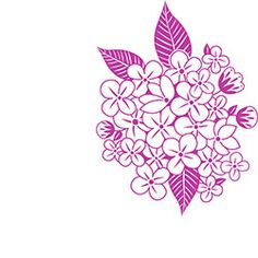 Violets Bunch Rubber Stamp from Paper Source