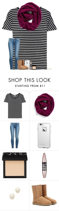 """"""": )"""" by taylorvel ❤ liked on Polyvore featuring Yves Saint Laurent, Halogen, Paige Denim, LifeProof, NARS Cosmetics, Maybelline, Juliet & Company and UGG Australia"""