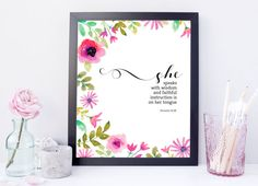 She Speaks with Wisdom  Digital Download by EncouragersforChrist