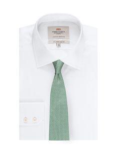 Men's Green Semi Plain Tie 100% Silk