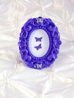 Purple Ornate Frame Butterfly Picture Frame by Deecreated4U
