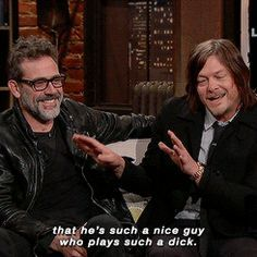Norman Reeus and Jeffrey Dean Morgan have known each other for a long time. Here's Norman talking about Jeffrey's new character on TWD, Negan #TalkingDead 4/3/16