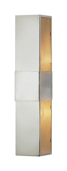 BOWERY; WALL SCONCE. POLISHED NICKEL. $357