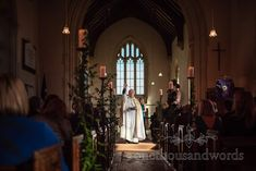 Vicar delivers blessing at Lulworth Estate church wedding in Dorset #churchwedding #dorsetwedding