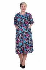 Женский хлопковый халат большого размера (62 - 72) на молнии Siena, Short Sleeve Dresses, Dresses With Sleeves, Fashion, Moda, Sleeve Dresses, Fashion Styles, Fashion Illustrations