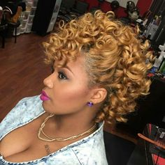 Omg I  want this sooo bad. Curly faux hawk!!!