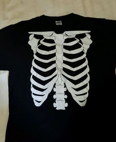 Halloween Skeleton Torso Chest T Shirt #BasicTee