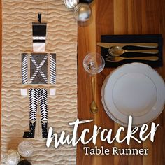 Nutcracker Table Runner | Create a festive nutcracker table runner with this free foundation paper piecing pattern! fabric.com Blog
