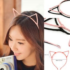 Cute Sexy Womens Vivid Color Kitty Cat Ear Head Band Hair Band KPOP SNSD | eBay
