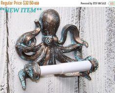 ON SALE Octopus~Toilet Paper Holder~Octopus Toilet Paper Holder~Octopus Decor~Beach~Nautical