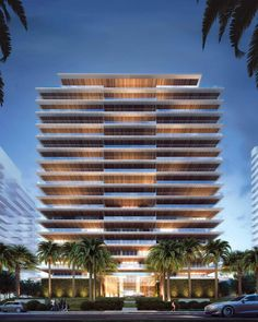 Miami Real Estate, Construction And Architecture Condominium Architecture, Miami Architecture, Residential Architecture, Architecture Design, Building Exterior, Building Facade, Building Design, Miami Beach Condo, Tower Design