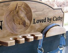 Personalized 3D Horse Tack Bridle Halter Crop Rack Tack Room Organizer Custom Whip Tack Holder Bridle Hanger Horse Show Award Display Stable