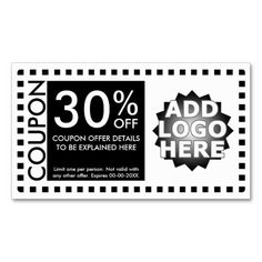 customizable coupon layout business cards by identica market me