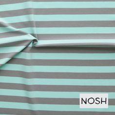 Stripe, Gray/ Mint Green