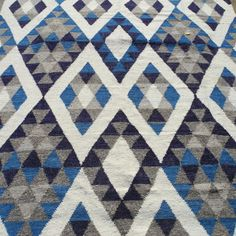 Indigo Diamond Rug   Need a new throw Rug but in Red