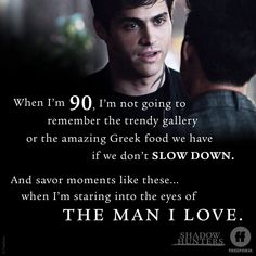 """""""Original Sin"""" - When we say this, we mean it: relationship goals. Alec And Jace, Shadowhunters Season 3, Cassandra Clare Books, Alec Lightwood, Jace Wayland, Shadowhunters The Mortal Instruments, World Quotes, Matthew Daddario, Clace"""