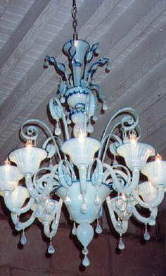 Opaline chandelier