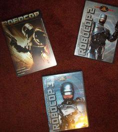 Lot of 3 Robocop DVDs Peter Weller Nancy Allen Robert John Burke