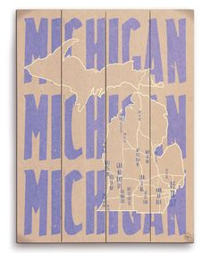 Look at this #zulilyfind! Michigan Cities Wall Art by Image Canvas #zulilyfinds