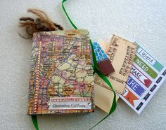 Sale Travel journal California/ smash book /map by LDphotography