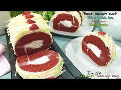 Resep Bolu Gulung Red Velvet Enak Lembut & Moist (Bagus Banget Buat Isian Snack Box, Hantaran,Acara) - YouTube Snack Box, Tiramisu, Red Velvet, Snacks, Ethnic Recipes, Desserts, Youtube, Food, Tailgate Desserts