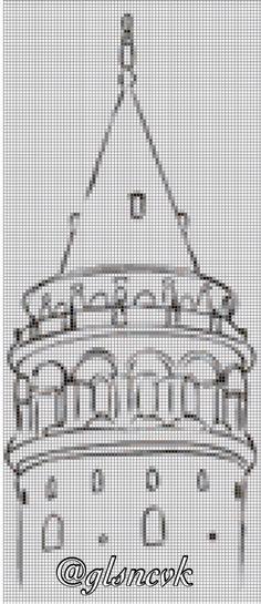 Cross stitch Galata Tower İstanbul