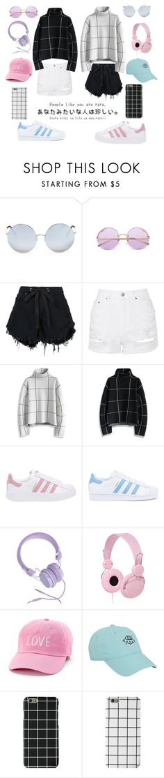 """""""~Opposite Day~"""" by gabikrocka ❤ liked on Polyvore featuring Matthew Williamson, Nobody Denim, Topshop, Chicwish, adidas Originals, adidas, Urbanears and David & Young"""