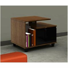 Nexera Harmony End Table in Cinnamon Cherry Laminate Media Table, Sofa End Tables, All Modern, My Dream Home, Contemporary, Cabinet, Retro, Storage, Projects