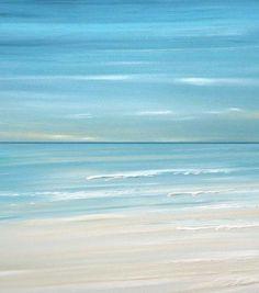 Blue Beach ocean coastal wave wall art painting giclee print by Francine Bradette-FREE S Seaside Art, Coastal Art, Beach Art, Blue Beach, Cottage Art, Coastal Cottage, Watercolor Landscape, Landscape Paintings, Ocean Paintings