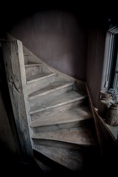 I just love creepy, creaky stairs Pole Barn House Plans, Pole Barn Homes, Stair Slide, Stair Shelves, Stairs To Heaven, Rustic Stairs, Barndominium Floor Plans, Stair Landing, Entry Hallway