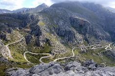 2º día. Mallorca -Tramontana bajada a Sa Calobra ~ this was a road through some fascinating terrain.