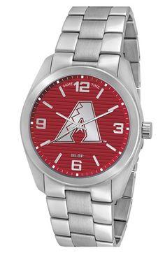 Men's Game Time Watches 'MLB Elite - Arizona Diamondbacks' Bracelet Watch