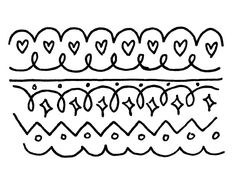 Designed Patterns Easy To Draw Drawings Doodle Cute Borders