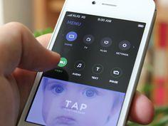 Dribbble - iPhone App Design /// Opened Menu by Yura Yarokhovich