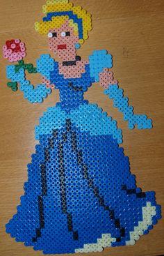 Cinderella - Perler Hama by Chrisbeeblack on deviantart