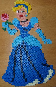 Cinderella - Perler Hama by Chrisbeeblack on deviantart