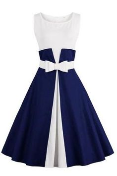 Chicloth One More Time Cute Bow Vintage Dress #vintagedresses