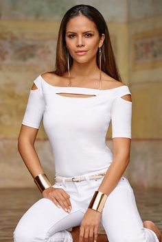 So Sexy™ cutout off-the-shoulder top